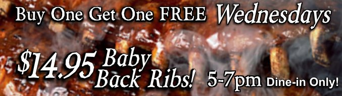 Buy One Get One Free Ribs Wednesday Special
